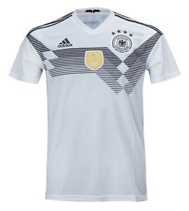 Adidas Men Germany 1819 Home Replica National Shirts White Soccer Jersey BR7843