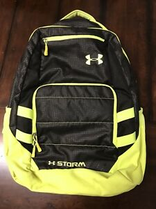 Mens Under Armour Backpack Florescent Yellow And Black
