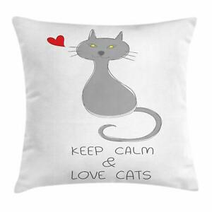Keep Calm Throw Pillow Cases Cushion Cover for Home Accent Decorations 8 Sizes