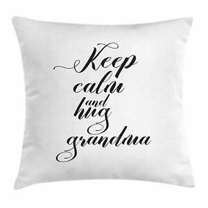 Grandma Throw Pillow Cases Cushion Covers by Ambesonne Home Decor 8 Sizes