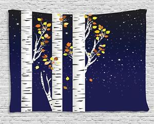 Birch Tapestry Wall Hanging Art for Bedroom Dorm Room 2 Sizes Available
