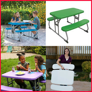 Lifetime Childrens Picnic Table, Stain resistant, easy clean, Flat Fold