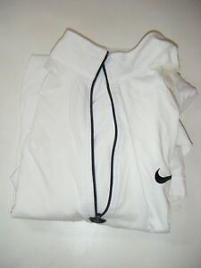 NIKE VTG 1998 AGASSI TENNIS POLO SHIRT WHITE DRI-FIT MEDIUM WITH ZIPPERS