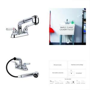 Universal Laundry Tub Faucet By MAYA Pull Out Spray Spout Non-Metallic ABS
