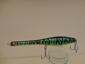 New saltwater green mackerel wood fishing lure 4.0 oz and 9'' the best for canal