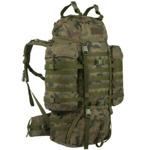 Wisport Raccoon 65L Backpack Military MOLLE Hunting Outdoor PL Woodland Camo