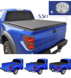 JDMSPEED Roll Up  Soft Tonneau Cover for 2004-2018 Ford F-150, 5.5' Short Bed