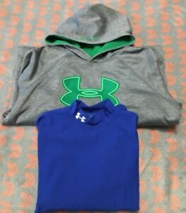 Under Armour Storm Boys Youth Extra Large Hoodie Cold Gear Lot Compression