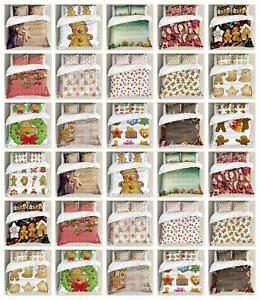 Gingerbread Man Duvet Cover Set Twin Queen King Sizes with Pillow Shams
