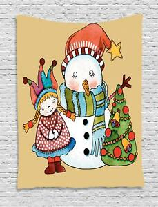 Christmas Season Tapestry Wall Hanging Decoration for Room 2 Sizes Ambesonne