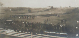 U.S. MILITARY AT CAMP MEADE PA. GRAND REVIEW OF TROOPS 1898. ALBUMEN FRAMED.