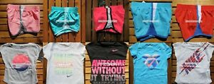 NIKE GIRLS ~ SUMMER SHORTS ~ T-SHIRTS ~ DRI-FIT~ SIZE 2T ~ 3T or 4T ~10pc ~ NWT