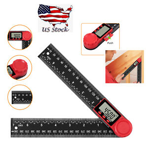 4*90°Magnetic Digital Protractor Angle Finder Bevel Level Box Inclinometer