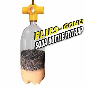 Flies Be Gone THE MONSTER Reusable Non-Toxic Soda Bottle Fly Trap Kit (2 pack)