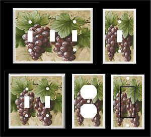 GRAPES AND VINE #5  LIGHT SWITCH COVER PLATE KITCHEN HOME DECOR