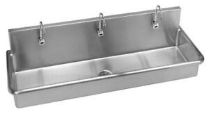 JUST MANUFACTURING J6020-S Scrub SinkWith Faucet60 In. L20 In. W