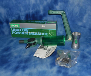 RCBS Uniflow Powder Measure with Tall Stand Dispenser and powder trickler