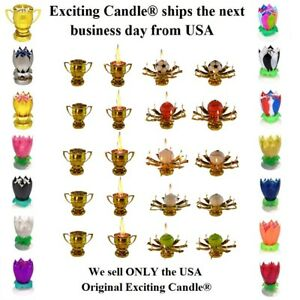Amazing Romantic Magical Lotus Flower Happy Birthday Party Gift Musical Candle