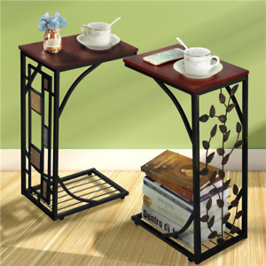 C Shaped End Tables Living Room Sofa Table Coffee Table Snack Table Table Trays $45.99