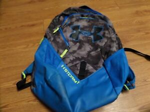 Under Armour Storm1 Backpack  gray camo& blue