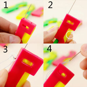 USA Automatic Sewing Needle Device Threader Thread Guide Elderly Use Device $7.77