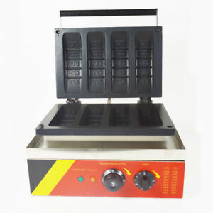 Commercial Use Non-stick Waffle Cake Maker Baker Cookie Machine 110V