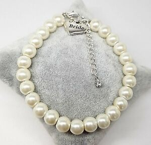 Personalised Wedding Extender Chain Bracelet Bride Lots Of Charms Free Gift Bag