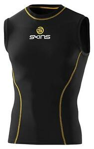 SKINS Sport Black Top Sleeveless Mens Compression Shirt