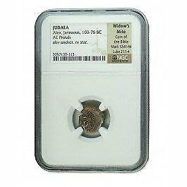 Widows Mite Ancient Coin NGC Certified Authentic Premium Grade Highest Quality $74.99
