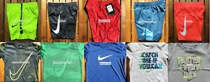 NIKE BOYS 3T ~  $232 Dri-fit SHORTS ~ T-SHIRTS ~  NEW ~ 10 PIECES RED BLACK YELL