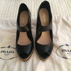 Prada Mary Jane Pumps With Gum Sole