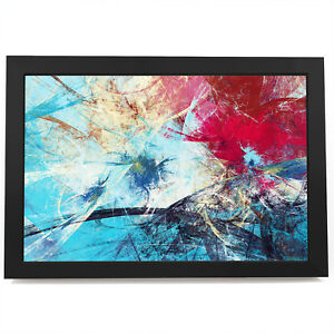 AB887 Blue Pink Black Cool Modern Abstract Framed Wall Art Large Picture Prints