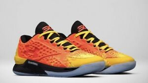 UNDER ARMOUR CURRY 1 ONE MLB Assembly 125 YELLOW ORANGE BLACK SZ 10 All Star 18
