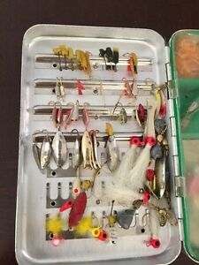 Lot fishing lures vintage Spoons Hooks Wow