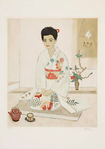 Einar Jolin - Japanese Woman - Lithograph Signed Limited Edition