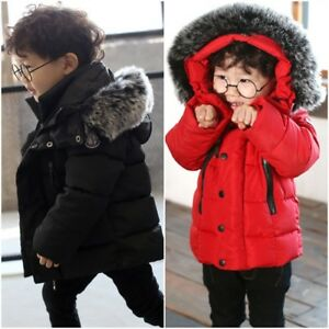 Boys Fashion Jackets Solid Faux Leather Cotton Autumn Jacket Warm Coats for Kids