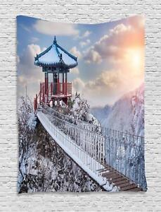 Winter Tapestry Wall Hanging Decoration for Room 2 Sizes Ambesonne