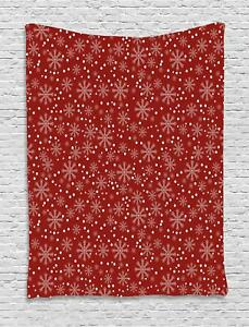 Geometric Christmas Tapestry Wall Hanging Decoration for Room 2 Sizes Ambesonne