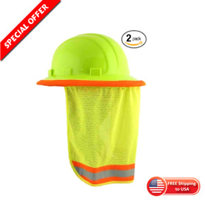Sun Shade Reflective Visor For Safety Hard Hat Head Neck Protection Pack Of 2