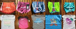 NIKE GIRLS 4T ~ 10 Pieces ~ SUMMER TEMPO RUNNING SHORTS  T-SHIRTS ~$227 RETAIL