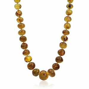 Amber Charming Necklace 28 Inches