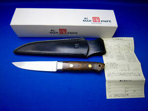 AL MAR VINTAGE ESKIMO FIXED BLADE KNIFE  Made In Japan UNUSED NEAR MINT COND.
