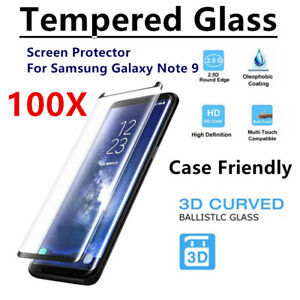 100 PCS Premium Tempered Glass Screen Protector Film For SAMSUNG Galaxy Note 9