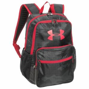 Under Armour HOF Youth Backpack Black Camo Red Boy's School Book Bag 1256655 New