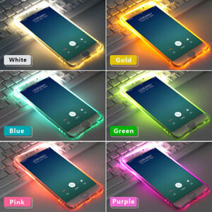 LED Flash Light Up Soft TPU Remind Incoming Call Cover Case For iPhone XS Max XR