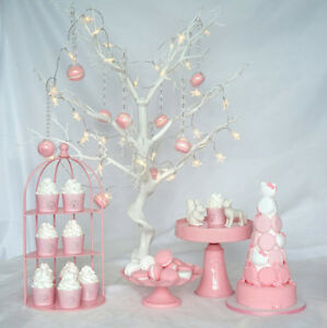 Pink Wedding Decoration Dessert Cake Stand Cupcake Party Supply High Quality