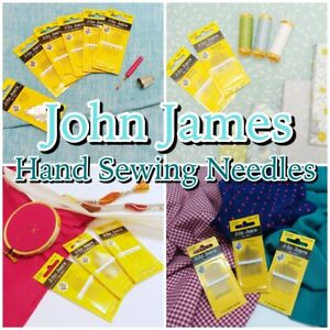 Hand Sewing Needles JOHN JAMES Quality Quilting Craft Needle Packs GBP 1.89