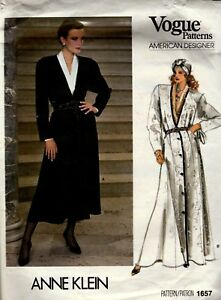 Sewing Pattern Vogue Ann Klein 1657 Women's Dress & Blouse - Size 14 Uncut