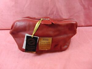 Terrida Italian Designer Luxury Red Travel Bag Genuine Calf Leather Large NWT