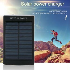 500000mAh Portable Dual USB Battery Charger Solar Power Bank For Phone Portable